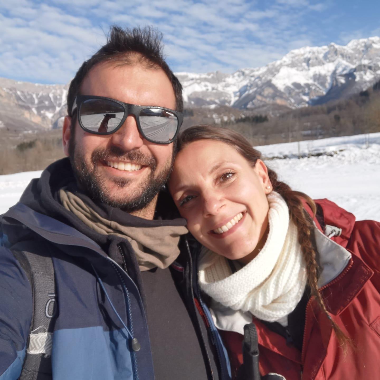 en el right vibe team sulla neve